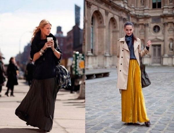 С чем носить длинные юбки зимой фото 91