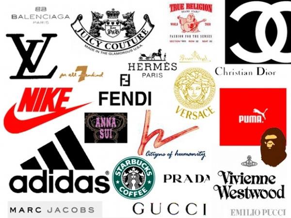логотипы марок одежды: